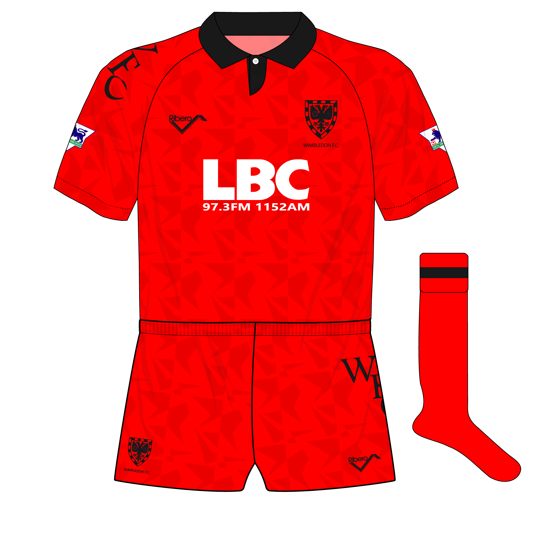 Wimbledon-Ribero-1993-1994-red-third-shirt-kit-LBC-01