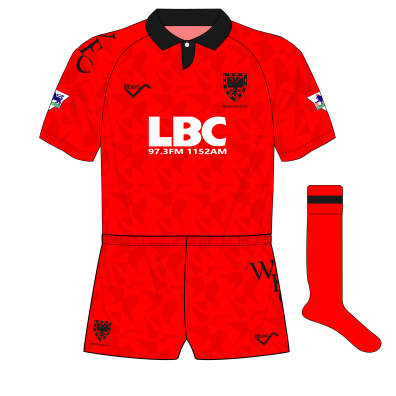 Wimbledon-Ribero-1993-1994-red-third-shirt-kit-LBC-01