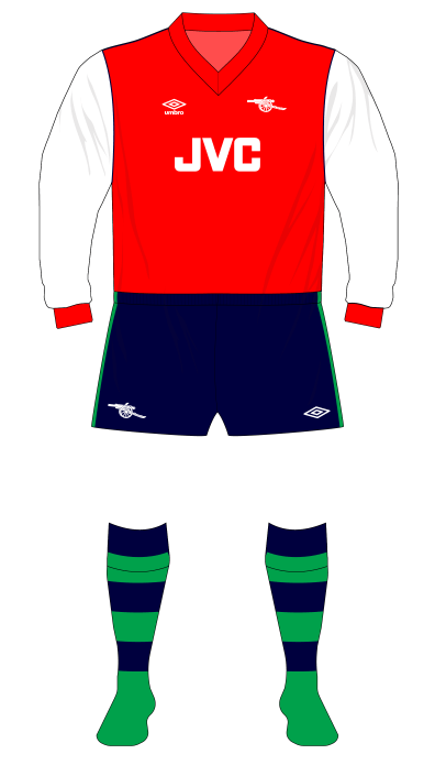 Arsenal-1982-1983-home-kit-navy-shorts-green-socks-Everton-01