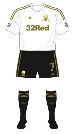 Swansea-City-2013-adidas-home-kit-black-shorts-socks-Arsenal-FA-Cup-replay-01