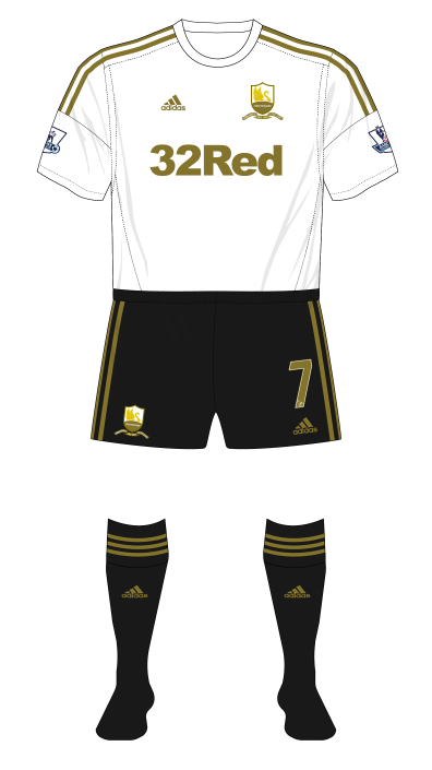 Swansea-City-2013-adidas-home-kit-black-shorts-socks-Arsenal-FA-Cup-replay-01