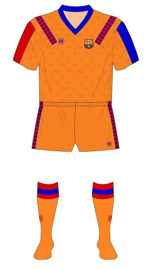 Barcelona-1992-Meyba-camiseta-naranja-Sampdoria-01