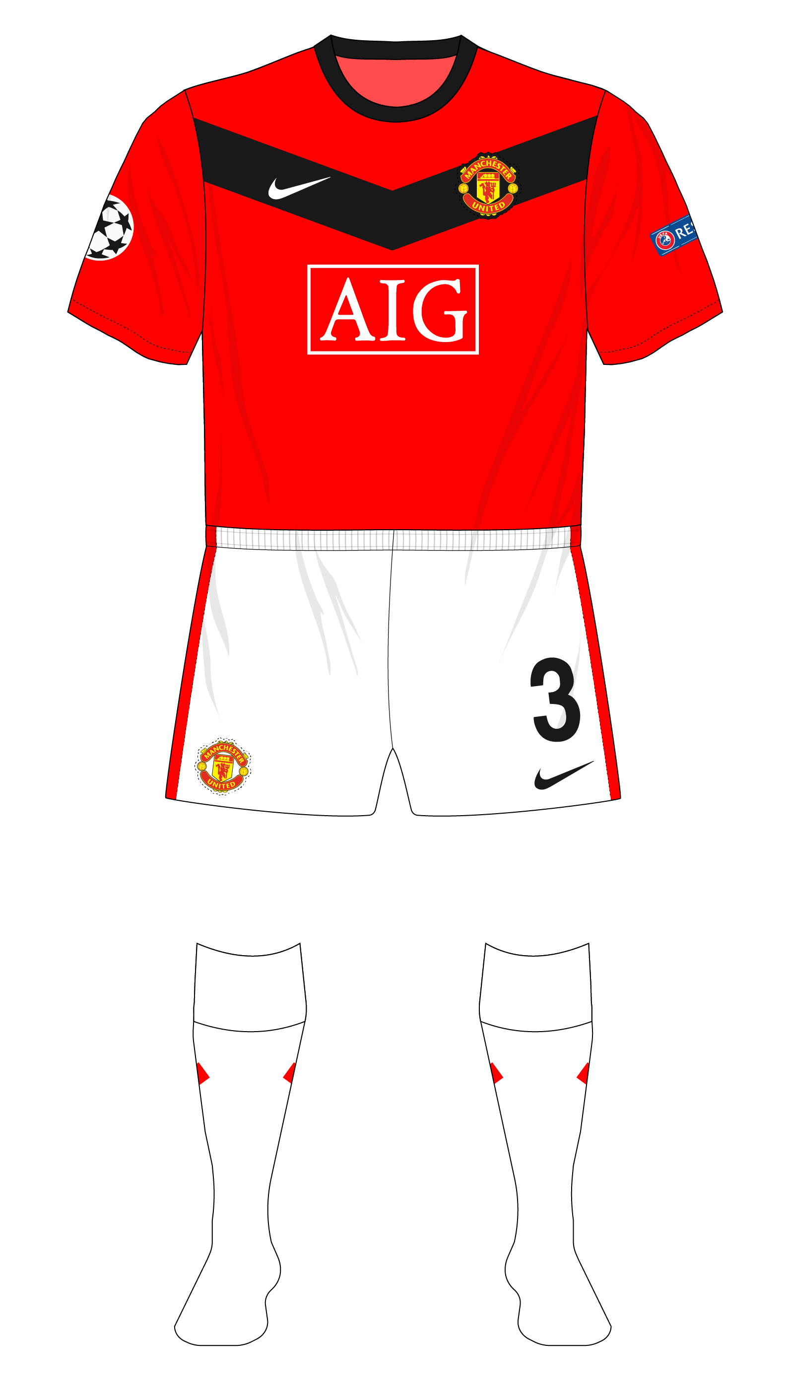 buy popular cc18e b32c1 Season in kits – Manchester United, 2009-10 – Museum of Jerseys