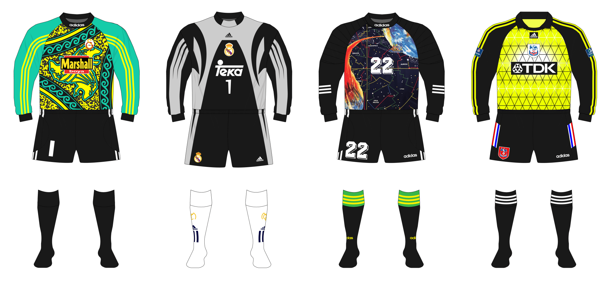 c3c07a6f9 The evolution of adidas goalkeeper shirts