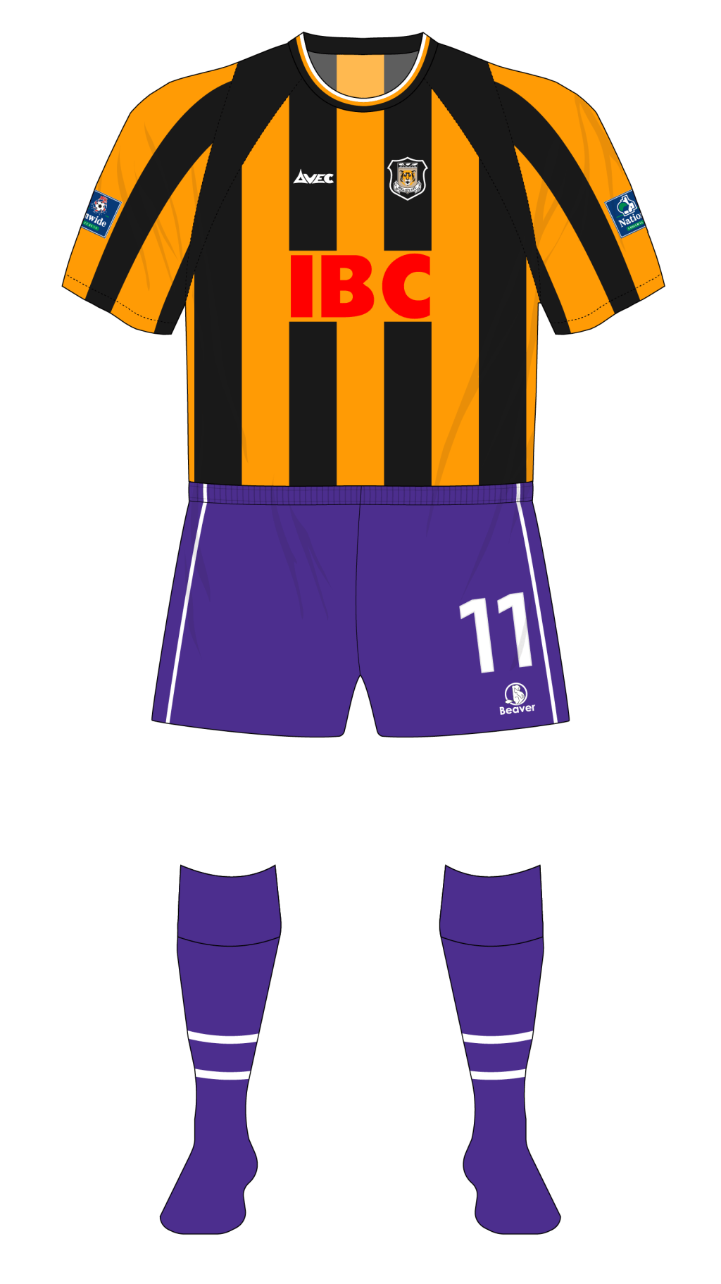 Hull-City-1999-2000-Avec-home-purple-shorts-socks-Exeter-01