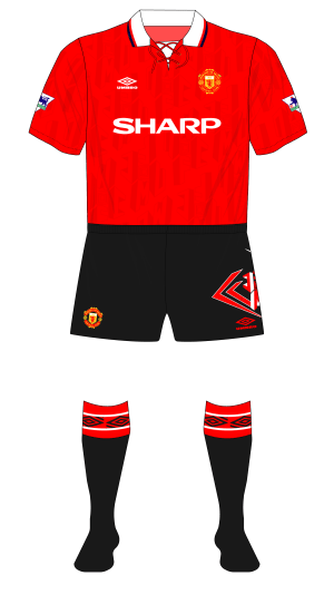 a1669aa54 The yellow alternate away shorts Arsenal wore during the 1991-92 season or Manchester  United s black alternate home shorts
