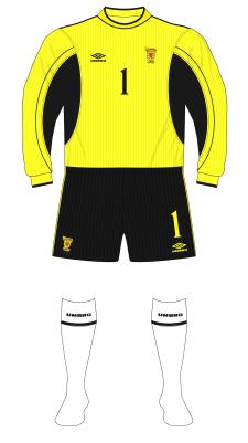 Scotland-1999-Umbro-goalkeeper-yellow-Sullivan-white-socks-Germany-01