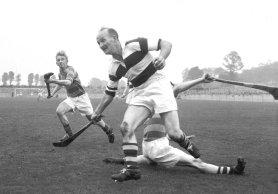 The legendary Christy Ring in action for the Glen in the 1956 Cork SHC final against Blackrock