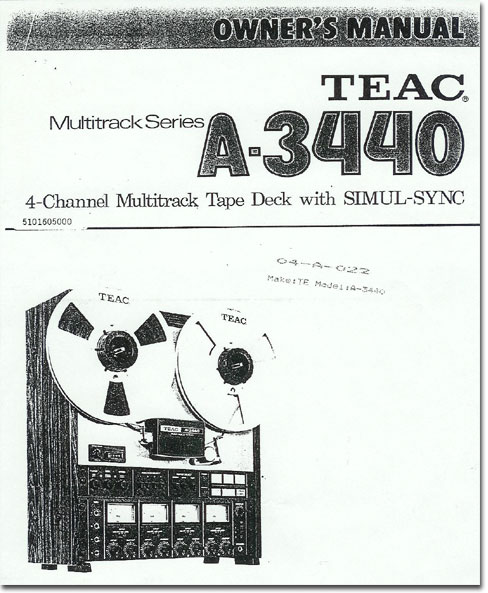Teac A-440- Teac Tascam reel tape recorders • the Museum