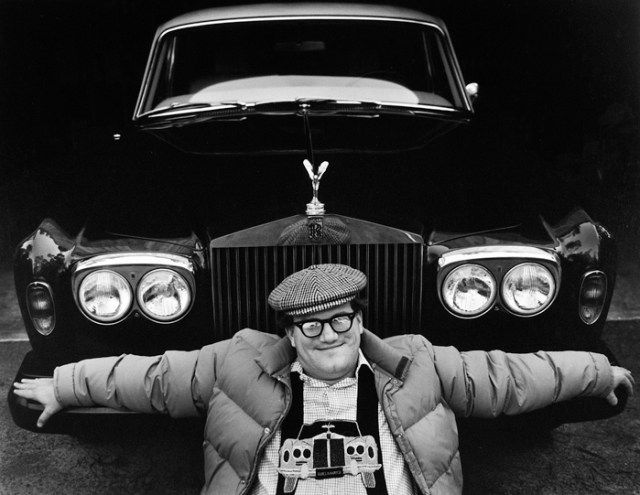 Bill and his Rolls, 1977