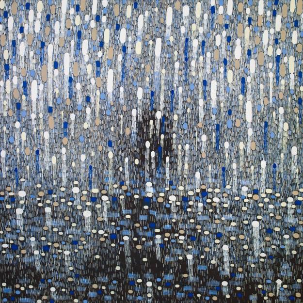 6' Stars and Sleet, oil on linen, 183 x 183 cm-1