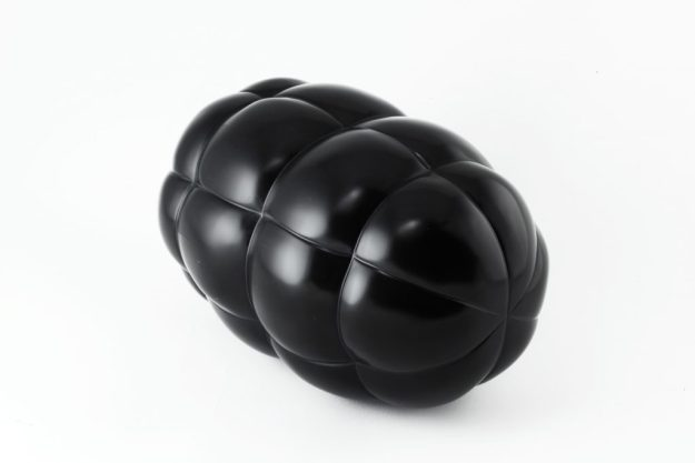 Claire_Lieberman_Black_Marble_Grenade_10in_x 6in_x_6in