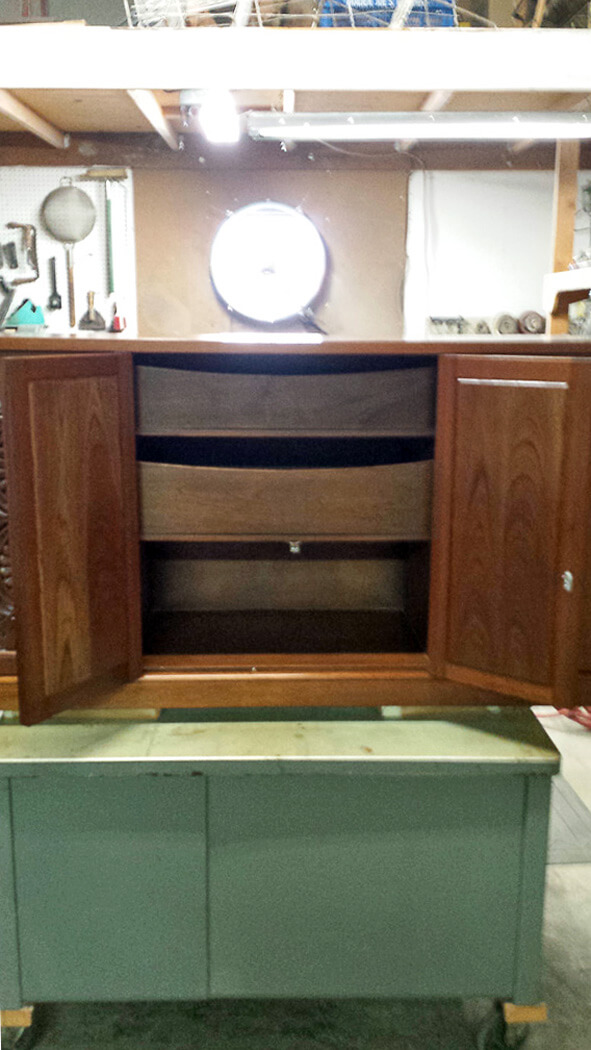 Palm Desert Furniture Refinishing, Carved Cabinet | Museum Quality ...
