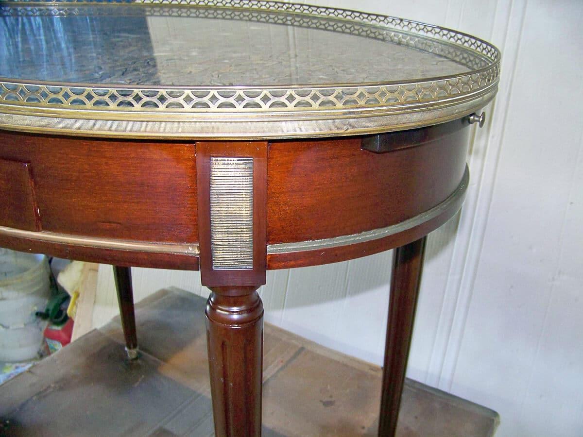 Indian wells furniture restoration french marble top end for Furniture restoration