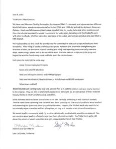 Martin Letter of Recommendation