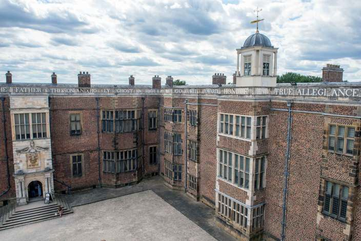 The inside courtyard of Temple Newsam house.