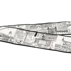 Cityscape Black and White Oven Glove pic