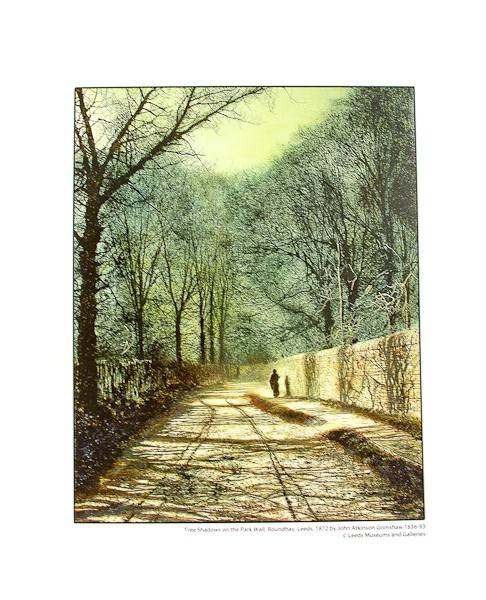 Tree Shadows on the Park Wall Print pic