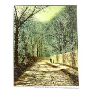 Tree Shadows on the Park Wall Print pic