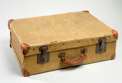 An old fashioned suitcase
