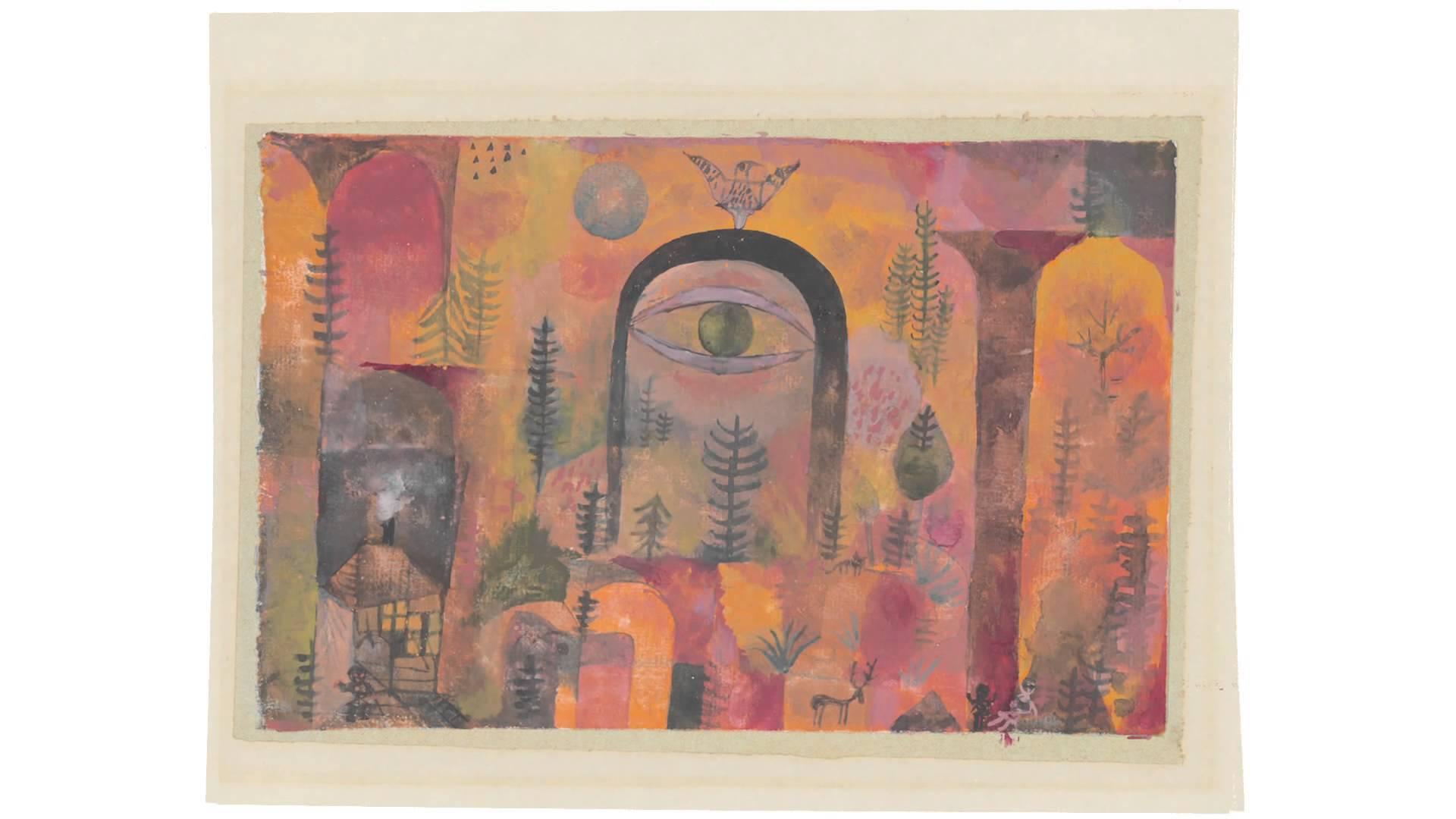 Zentrum Paul Klee  Paul Klee mit dem Adler 1918