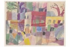 Zentrum Paul Klee – Paul Klee – rote und gelbe Häuser in Tunis, 1914