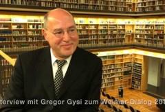Klassik Stiftung Weimar: Interview mit Gregor Gysi zum Weimar-Dialog 2015