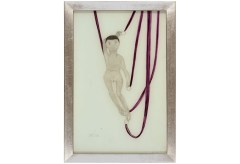 Paul Klee – Puppe an violetten Bändern, 1906