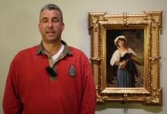 """Gerd Kastenmeier in der Ausstellung """"Unter italischen Himmeln"""""""