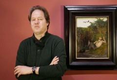 """Jan Vogler in der Ausstellung """"Unter italischen Himmeln"""""""