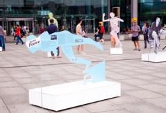 Frankfurt Rathenauplatz: Mutwillige Zerstörung der Ausstellung über jüdische Sportler