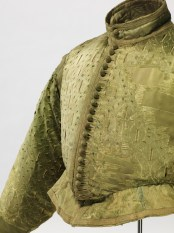 green doublet, about 1580/1600, silk satin with slit pattern on silk taffeta, Germanisches Nationalmuseum, Nürnberg (Ger)