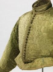 green doublet, about 1580/1600, silk satin with slit pattern on silk taffeta, Germanisches Nationalmuseum, Nürnberg (Ger)