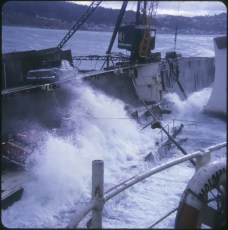 TEV Wahine wreck during heavy seas