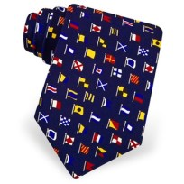International Code Flags Silk Tie, Gift, Silk, Tie, Maritime