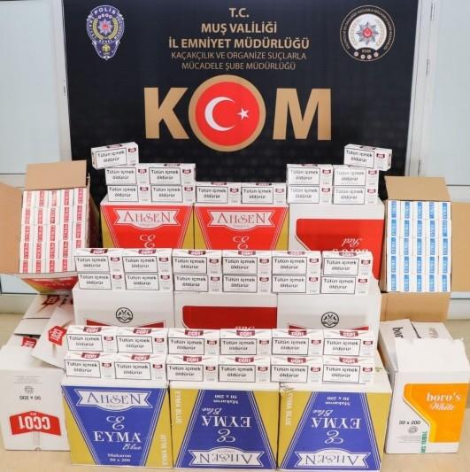 Muş'ta tütün mamulü kaçakçılığı yapan 1 kişi hakkında işlem yapıldı