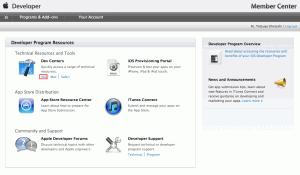 Apple Developer Center