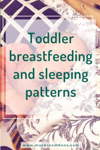 Toddler breastfeeding and sleeping patterns