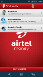 Subscribers can buy airtime and load data bundles directly from the Airtel Money app