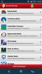 The Airtel Money app gives access to financial services