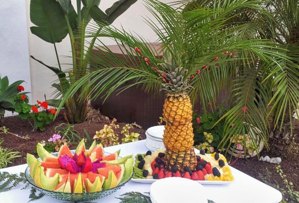 Decorar evento con frutas Tenerife