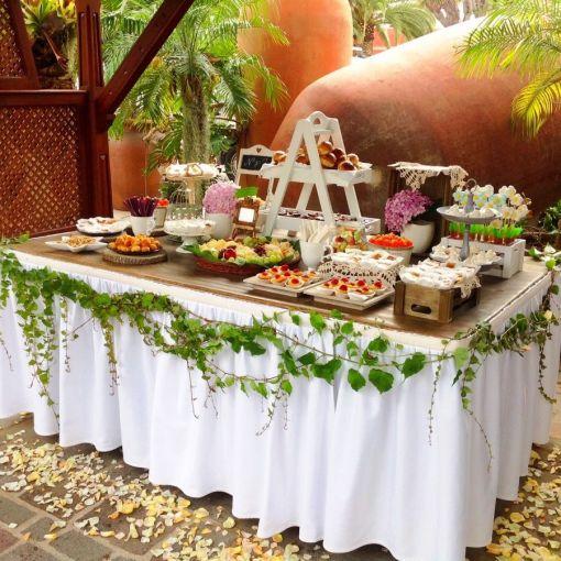 Mesa dulces salados Tenerife bodas eventos