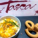 Croquetas bacalao rebozado arroz paella