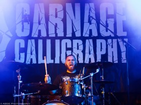 Carnage Calligraphy, Support for Evergreen Terrace, Backstage Halle, Munich, Germany, August 2018 © Alexis Buquet – ABSE Photography. All rights reserved. Please do not use this photo on websites, blogs or any other media without my explicit permission.