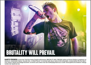 Brutality Will Prevail, Fuze Magazin 63 APR/MAY 17, http://fuze-magazine.de