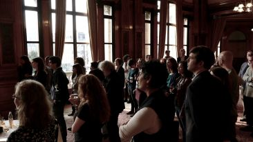 Delegates during the civic reception at the Glasgow City Chambers. Photo by Chris Adams.