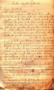Letter from Miguel Uriarte to the president of the Sociedad