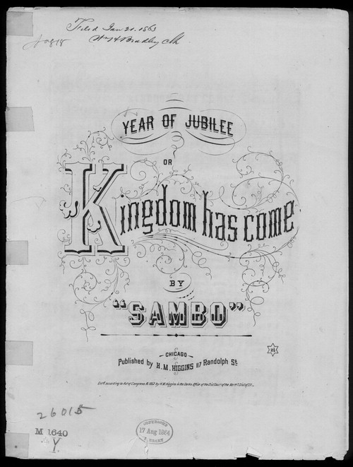 Kingdom Coming by Henry C. Work: abolitionist minstrel song