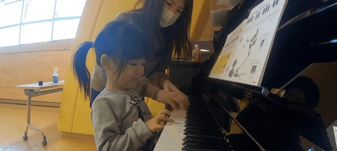 0歳からリトミックを続けている3歳4歳5歳のお友達と鍵盤練習!