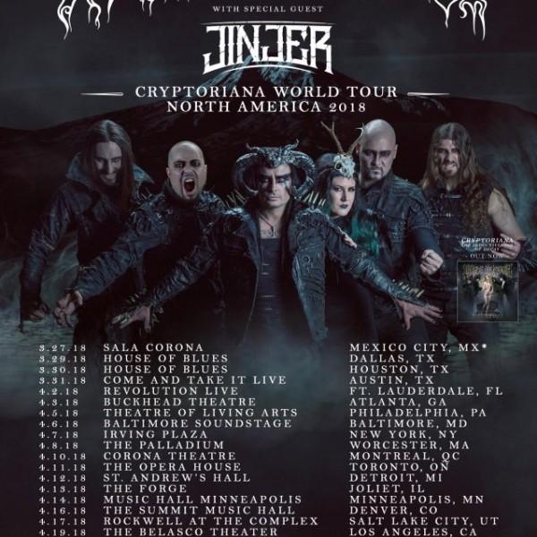 Cradle Of Filth Announces Spring 2018 Tour Dates  Mxdwncom